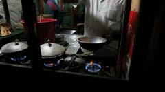 Man preparing hoppers, a traditional Sri Lankan food Stock Footage