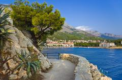 View to Makarska, Croatia Stock Photos
