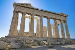 Parthenon temple in Acropolis at Athens, Greece Stock Photos