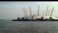 Stock Video Footage of London - 14th March: The O2 with Emirates Air Line in background