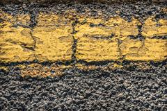 Cracked road marking Stock Photos
