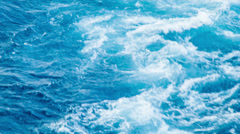 Close-up of Swirling Wake Behind Ship or Boat Stock Footage