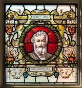 lord leighton glass - stock photo