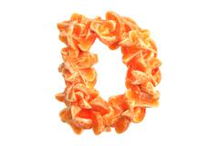 Mandarin letter D on white background - stock illustration