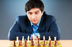 Stock Photo of FIDE Grand Master Vugar Gashimov (World Rank - 12) from Azerbaij