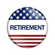 Saving for an american retirement Stock Illustration