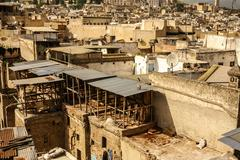 Stock Photo of fez, morocco. the tannery souk of weavers is the most visited part of the 200