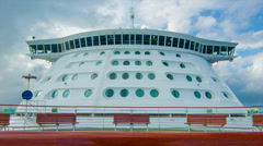 Cruise Ship Bridge Seen from the Bow (Front) Stock Footage