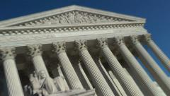 Zoom to EQUAL JUSTICE above; Supreme Court, US - stock footage