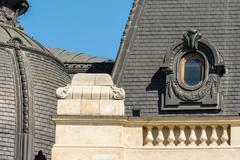 Neoclassical Roof Architecture Stock Photos