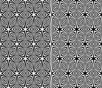 Starry elements seamless patterns Stock Illustration