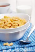 Cornflakes for breakfast Stock Photos