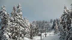 Mount Seymour Chairlift, Vancouver Stock Footage