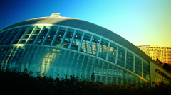 The City of Arts and Sciences, pan view Stock Footage