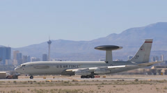 E-3 Sentry AWACS assigned to the 965th Airborne Air Control Squadron at Tinker  Stock Footage