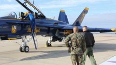 U.S. Navy Blue Angels visit MCAS Miramar Stock Footage