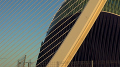 The Assut de l'Or Bridge is a suspension bridge at Valencia, zoom out Stock Footage