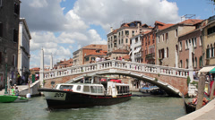 4K Venice, Italy Bridge Time-lapse Day Stock Footage
