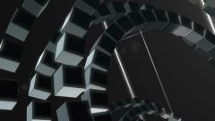 Technology Blocks Abstract Black Background - stock footage