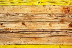 yellow wood background - stock photo