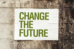 Change the future poster on grunge wall Stock Illustration