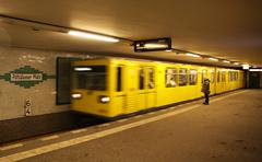 Potsdamer platz U-bahn (metro) station at Berlin - stock photo