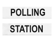 Polling station Stock Photos