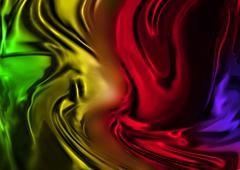 Silk Rainbow - stock illustration