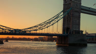 Stock Video Footage of london bridge sunrise time-lapse
