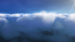 Aerial Clouds - Day - stock footage