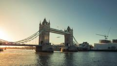 london bridge sunrise time-lapse - stock footage