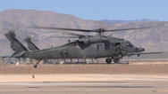 Stock Video Footage of Two United States HH-60Gs from Nellis AFB
