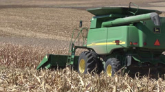 Combine Driving Away Stock Footage