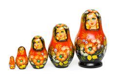 Russian toy matrioska Stock Photos
