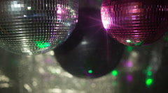 pink discoball mirrorball party disco glitterball  - stock footage