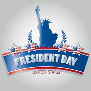 president's day icon designs - stock illustration