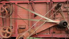 Threshing Machine, Henham Steam Rall, Suffolk, England, United Kingdom Stock Footage