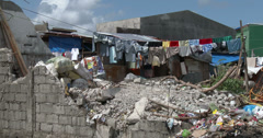 4K / HD Bright Laundry In Shanty Slum Housing Philippines Stock Footage