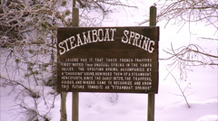 Steamboat Springs Sign Stock Footage