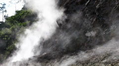 Volcanic steam comes out from the rock, Philippines Stock Footage