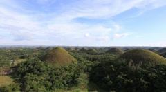 Chocolate Hills, Bohol Island, Philippines Stock Footage