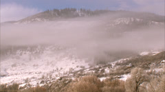 Yampa Valley Fog Steamboat Springs Stock Footage