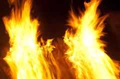 Abstract burning flames background - stock photo