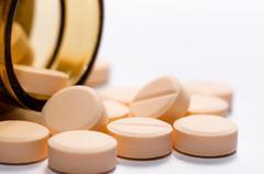 Medicine against white isolated background - stock photo