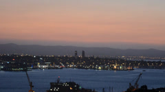 Auckland cityscape at sunset 05 Stock Footage