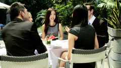 Group Male Female Multi Ethnic Business People Outdoor Meeting Stock Footage