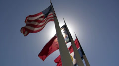 Three Flags City Hall Dallas Stock Footage