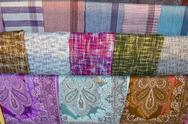 Stock Photo of fabrics found in a market