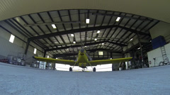 Inside the Hangar Stock Footage