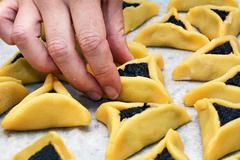 hamentashen ozen haman purim cookies - stock photo